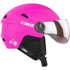 Bliz Jet Visor Helm Kinderen, pink-white